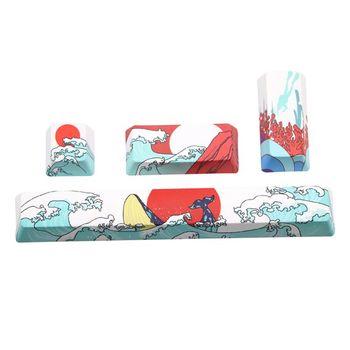 Coral marino, barra espaciadora PBT, cinco lados, tinta subcama 6.25U, teclado de perfil OEM, tecla