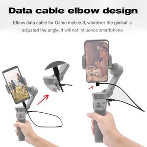 Image 5 - Voor Dji Osmo Mobiele 3 Handheld Gimbal Stabilizer Oplaadkabel 35 Cm Elleboog Usb Charger Sluit Draad Dji Osmo Mobiele accessoires