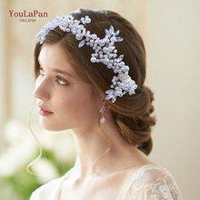Topqueen hp186 романтические украшения для волос невесты Серебряная
