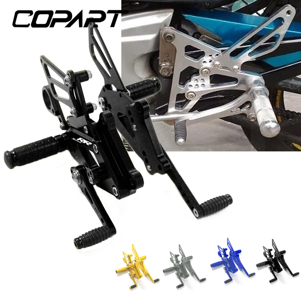 For BMW S1000RR S1000 RR S 1000 RR S1000R HP4 2009-2018 Motorcycle CNC Racing Adjustable Footpegs Footrest Pedals Rest Rearset