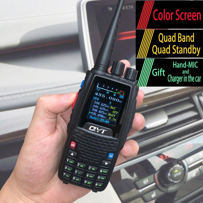 1pz Outdoor Portable FM Radio Walkie Talkies Wireless Handheld Quad Band Walkie-Talkie With Headset CB Radio Walkie Talkie 10km