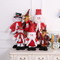 British style Christmas stretch Santa Claus Snowman doll doll standing position ornament shopping mall hotel window decoration