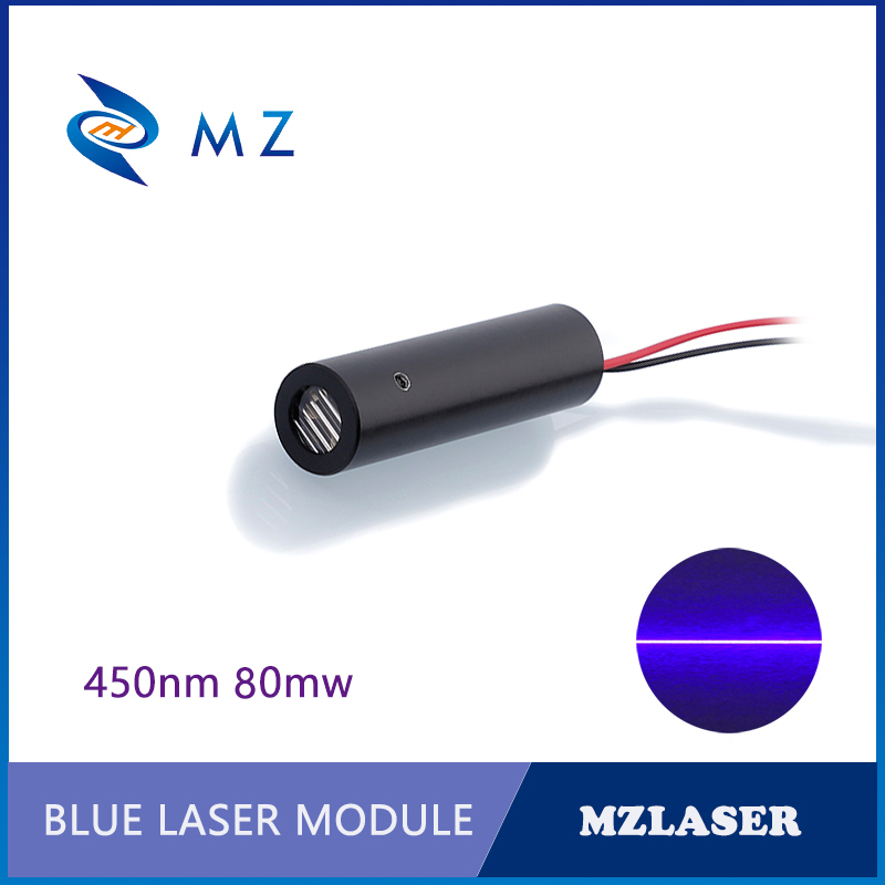 450nm 80mw 110 Degree Industrial APC Drives Blue Line Laser Diode Module