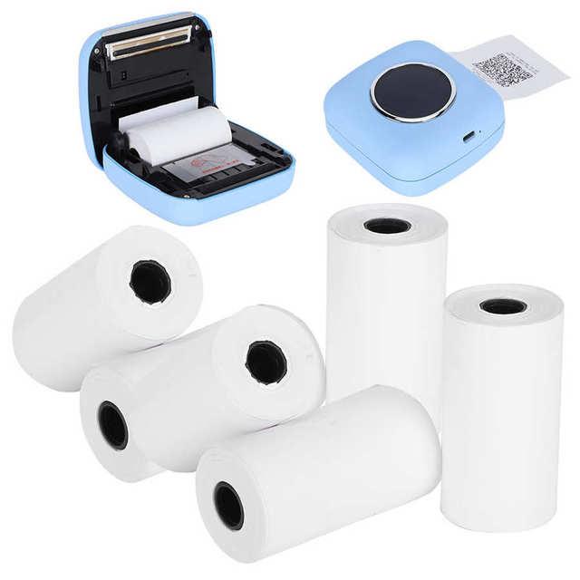 Profesjonalne 6 rolki termiczne papier do druku termiczna paragon papieru profesjonalne drukowanie akcesoria dla małych drukarki 57x30mm tanie i dobre opinie YOUTHINK CN (pochodzenie) 1-12 rolek box Other Thermal Printing Paper