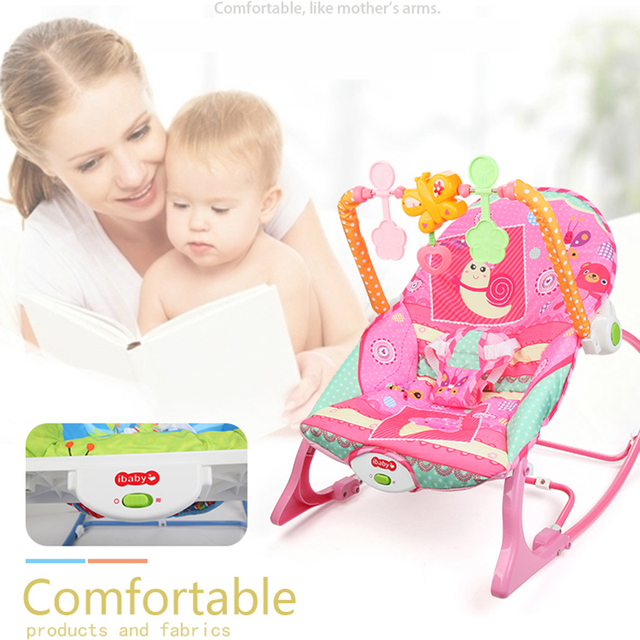 Baby Electric Cradle Swing For Newborn Metal Rocking Chair with Light Music Player Multi-function Baby Bassinet Cradle Kids 2