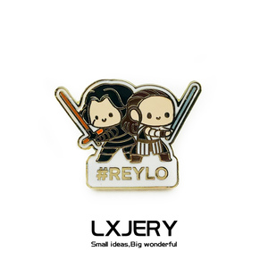 LXJERY Cartoon Enamel Star Wars Reylo Pins Badge On Backpack Movie Fans Brooch Pins For Clothes Broche For Girls
