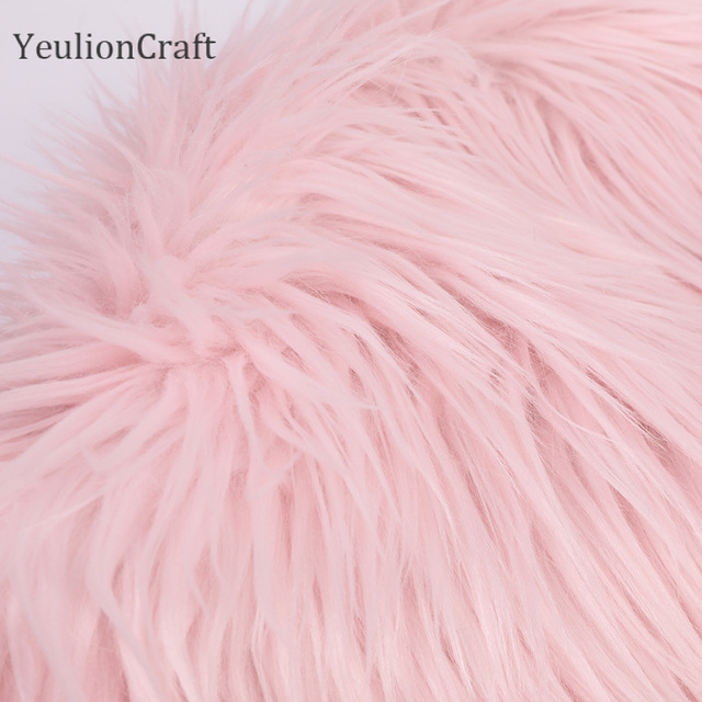 Chzimade Long Rabbit Faux Fur Fabric 20x30/40x60cm For Patchwork Sewing Material Garment Diy Home Decoration 5
