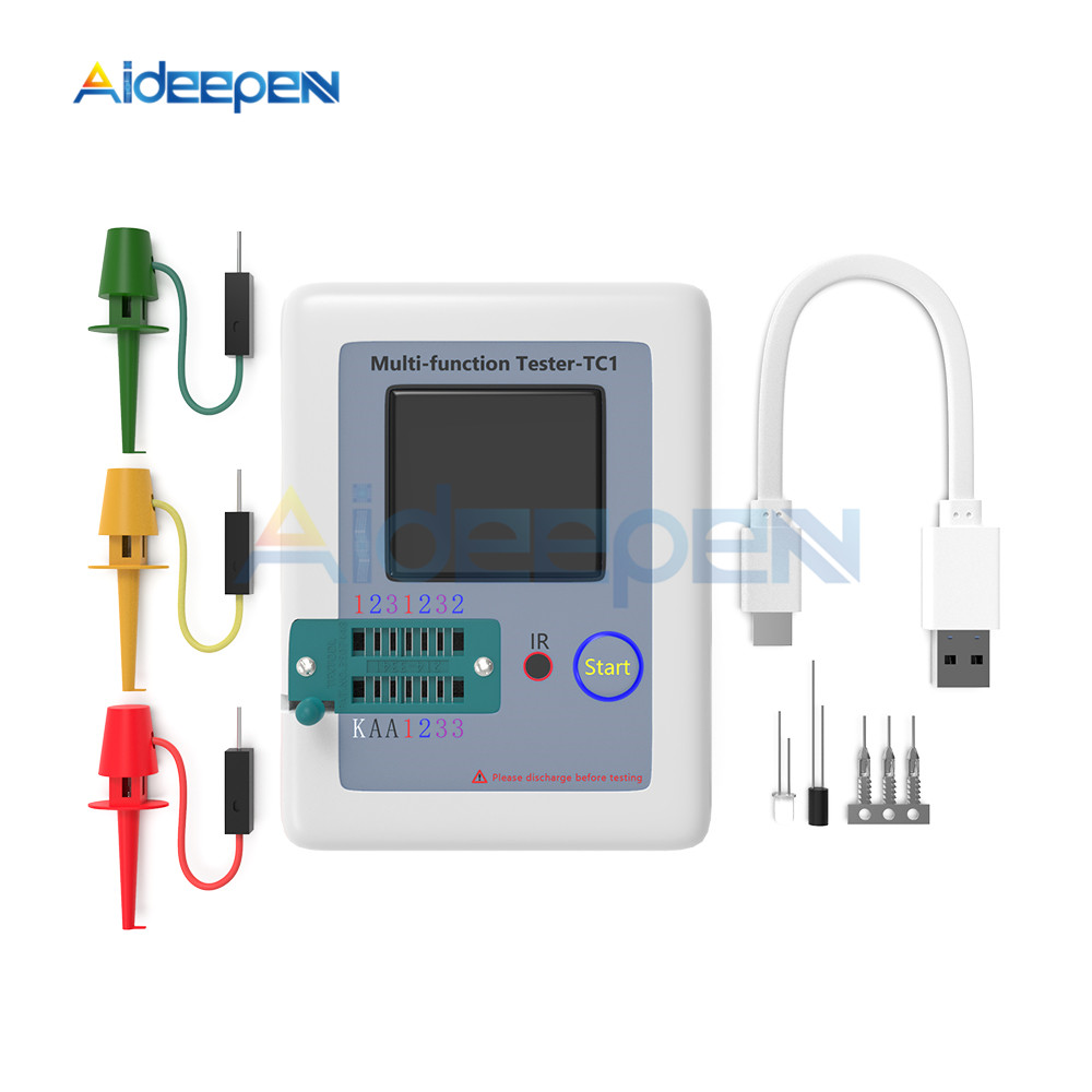 T7 TC-T7-H TCR-T7 LCR-TC1 Colorful Display Multifunctional TFT Backlight Transistor Tester For Diode Triode Capacitor Resistor