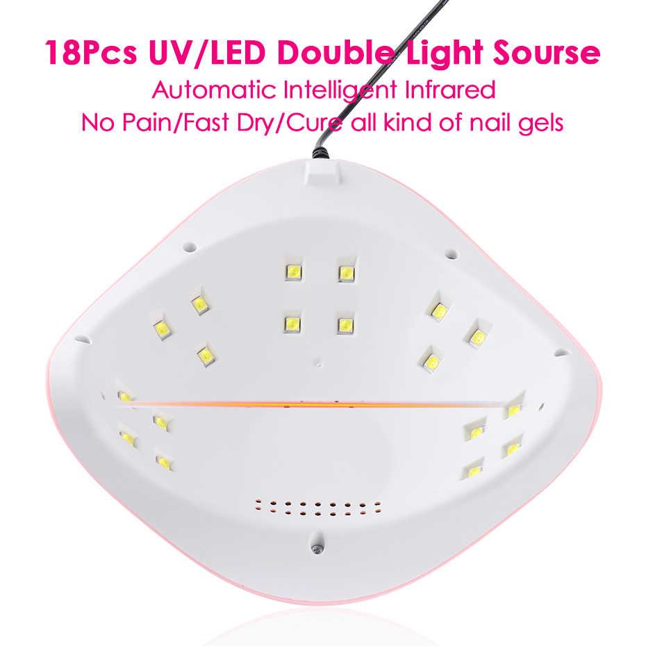 54W UV LED Del Chiodo Della Lampada Asciugatrice Per Manicure Del Gel Lampade Set Luce Del Sole Ad Asciugatura Rapida Che Cura Unghie Per Unghie Polacco Ibrido macchina TRSUN X3Plus