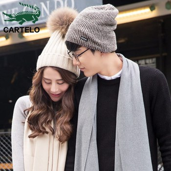 CARTELO 2020 new autumn and winter mens womens knitted hats thickened plus velvet warm