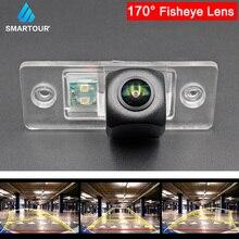 Fisheye cámara de visión trasera para coche, lente de marcha atrás para VW 08/09 Touareg/Tuhuan/Poussin/Passat viejo/Polo Sedán, estacionamiento de coche