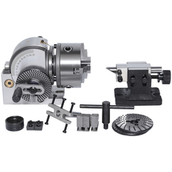 BS-0 precision milling machine indexing Head with 100m 3-jaw chuck CNC milling machine universal dividing head with tail