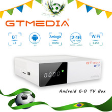 GTmedia GTC Receptor DVB-S2 DVB-C DVB-T2 ISDBT Amlogic S905D android 6.0 TV BOX 2GB 16GB Satelliet IPTV Ontvanger TV Box brasil(China)