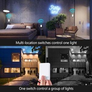 Image 3 - ワイヤレス防水リモートコントロールスイッチなしワイヤー必要壁のプッシュボタンは照明ランプファンオン/オフスイッチ