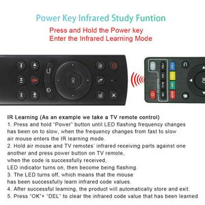 Image 5 - 2.4GHzไร้สายG20SเสียงรีโมทคอนโทรลMiniคีย์บอร์ดG20 Fly Airเมาส์ไมโครโฟนGyroสำหรับAndroid TVกล่องH96 MAX X2 X96 MINI