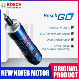 Image 1 - Bosch Go 6 Modes Adjustable Torques Screwdriver Tool Kits ,Rechargeable 3.6V Smart Cordless Screwdriver Mini Power Tool