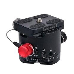 DH 50 z panoramiczną głowicą kulową indeksowanie rotatora głowica statywu ze stopu aluminium Max. Load 22Lbs dla Canon Nikon Sony lustrzanka cyfrowa w Części ciała od Elektronika użytkowa na