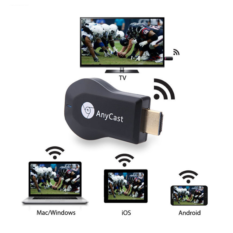 AnyCast Wireless Display Receiver WiFi Dongle Screen Mirror 1080P HDMI TV Stick