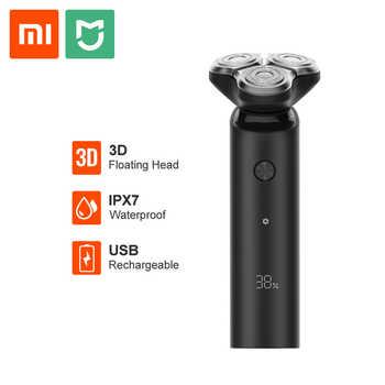 Xiaomi Mijia Electric Shaver Men Razor Beard Trimmer 3 Head Flex Dry Wet Washable Main-Sub Dual Blade Turbo+ Mode Shaving Razor - Category 🛒 Home Appliances