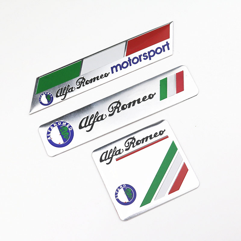 Car Decoration Stickers Logo 3D Aluminium Emblem Badge Decal For Alfa Romeo 159 147 156 Giulietta Car-Styling