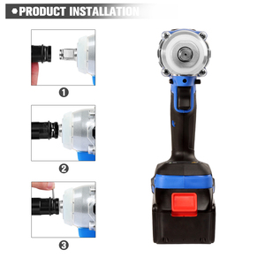 Image 3 - Electric Impact Wrench 21V Brushless Wrench Socket 4000mAh Li ion Battery Hand Drill Installation Power Tools By PROSTORMER