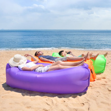 Polyester Foldable Portable Lazy Inflatable Sofa Outdoor Beach Air Sofa Bed Fashion High Quality Inflatable Bed Outdoor Sofas