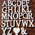 1pc branco letras de madeira inglês alfabeto palavra nome personalizado design arte artesanato livre pé forma do coração casamento decoração da sua casa
