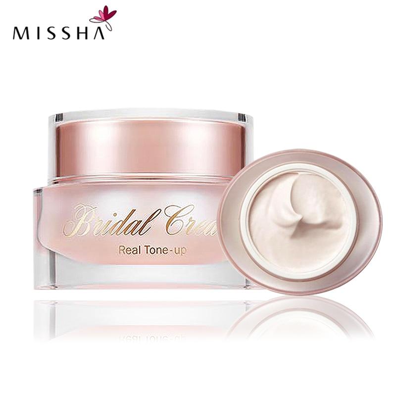 MISSHA 50ml Tone Up Cream Women's Face Toning Cream Brightens Skin Tone Lazy Concealer Skin Make Up Cosmetic