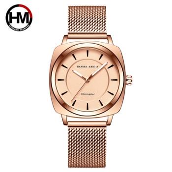 Women Watch Japan Quartz Movement High Quality Rose Gold Fashion Wrist Watch Stainless Steel Mesh Belt Waterproof Women Watches цена 2017