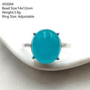 Image 4 - خاتم من الفضة الإسترليني 925 بحجر الأمازونيتي الجليدي الطبيعي الأخضر قابل للتعديل خاتم حريمي ورجالي بحبات كبيرة AAAAA