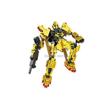hot LegoINGlys creators technic MSN-100 gold gundam Z Robot war Hyaku Shiki mini micro diamond building blocks model bricks toys