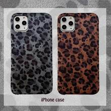 Autumn and winter retro leopard plush mobile phone case for iPhone11 Pro X XS Max XR 6s 7 8 plus drop protection cover(China)