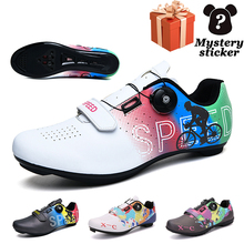 Classic men's road cycling shoes non-slip breathable female mountain cycling shoes self-locking