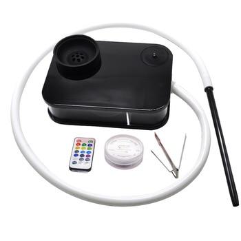 HORNET Acrylic Shisha Hookah With LED Light Plastic Large Hookak Narguile Chicha Smoking  Accessories
