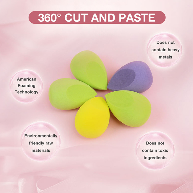 8pcs New Beauty Egg Set Gourd Water Drop Puff  Makeup Puff SetColorful Cushion Cosmestic Sponge Egg Tool Wet and Dry Use 3