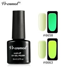 Luminous Nail Polish UV LED Gel Neon Yellow Red Pink Magic Non-toxic Long Lasting Nail Polish Varnish Top Coat Nails Art цена