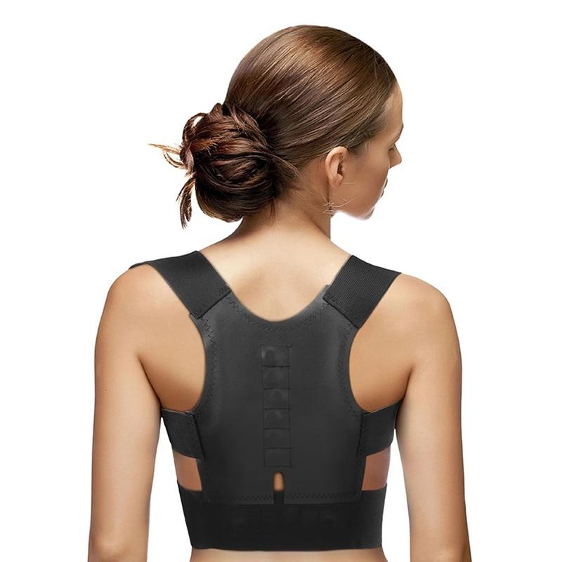 Magnetic Posture Corrector Back Shoulder Straighter Brace Belt Corrective Therapy Corset Lumbar Support Correction Women Men