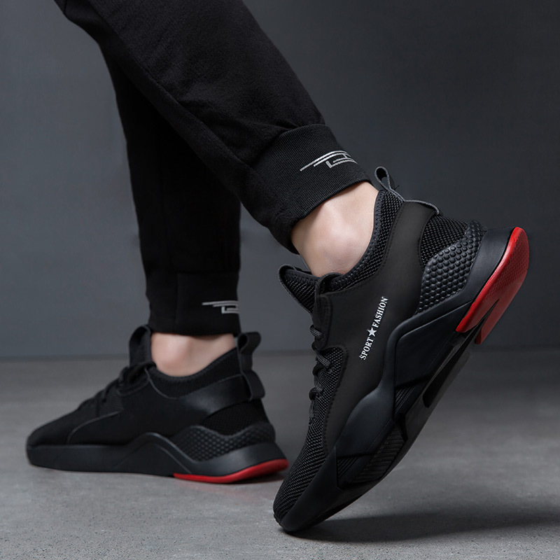 Spring Men Shoes Rubber Shoes Sneakers Men's Running Shoes Wear-Resistant Casual Shoes Men's Korean-style Trendy Shoes Travel Tr