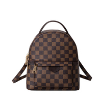 KYYSLO Wild Plaid Luxury Lady Bags Backpack New Temperament Large Capacity Backpack 2019 Simple Fashion Lattice Travel Bag