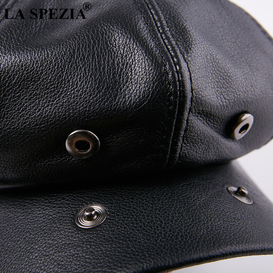LA SPEZIA Octagonal Cap Real Leather Men Black Vintage Newsboy Caps Male Spring Casual Gatsby Hat Classic Painter Flat Hats in Men 39 s Newsboy Caps from Apparel Accessories