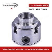 Phukimlong 2.75100mm 4 jaw self centering wood lathe chuck Scroll chuck mini lathe woodworking machine tool accessories chucks