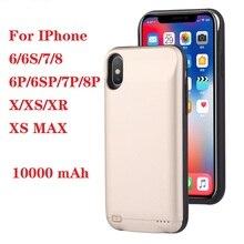 Хит 10000 мАч чехол для зарядного устройства для iphone 6 6s 7 8 Plus внешний аккумулятор чехол для зарядки для iphone X XS Max XR 6 s Внешний Аккумулятор Чехол