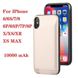 Quente 10000 mah caso carregador de bateria para iphone 6 6s 7 8 plus power bank caso de carregamento para iphone x xs max xr 6 s