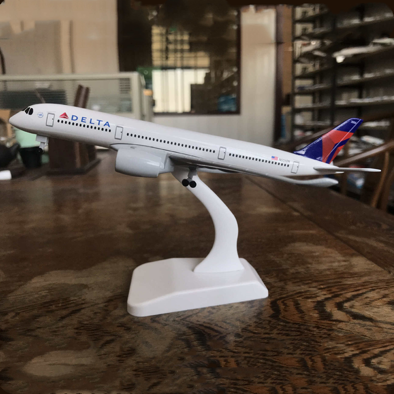 20CM Airbus A350 Air American DELTA Airways Alloy Metal Diecast Plane Model Airlines Airplane Aircraft Gift Collectible Display