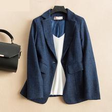 Coats Blazer Pink Fashion Pockets Blue Women Plus-Size No for Long-Sleeve Feminino 3xl