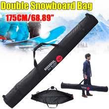 Спортивная сумка для катания на лыжах и сноуборде, устойчивый к царапинам защитный чехол, зимняя уличная сумка для сноуборда, двойной набор ...