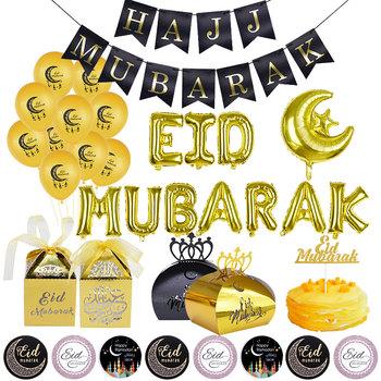 Ramadan Kareem Eid Mubarak dekoracje al-fitr Ramadan Mubarak Banner balon hajj Mubarak trznadel Islam muzułmanin Eid Party Decor tanie i dobre opinie ZQCXLD Banery Ramadan Kareem Eid Mubarak Decorations paper New Year Rocznica al-Fitr Eid 1set gold rose gold black silver