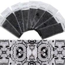 Черная кружевная белая кружевная бумага со звездами наклейка для ногтей роспись ногтей 4*120 сантиметр сумка/9-1 чехол