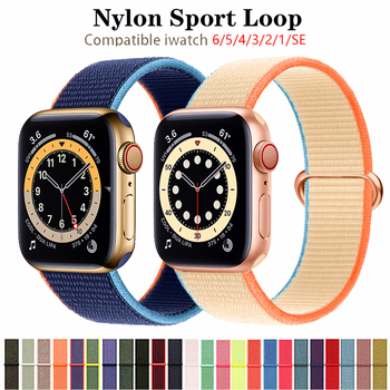crested sport nylon band for apple watch 3 42mm 38 mm wove nylon watch strap for iwatch series 3 2 1 wrist bracelet watch band Strap For Apple Watch band 40mm 44mm 38MM 42MM Nylon Sport Loop wrist Belt bracelet iwatch correa apple watch series 3 4 5 SE 6
