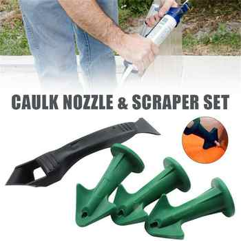 Professional Calking Tool Calking Tool Kit, Caulking Nozzle and Scraper Set Caulking Sealant Finishing Agent